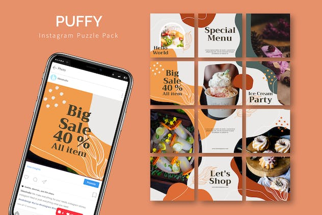 Puffy - Instagram Puzzle Template