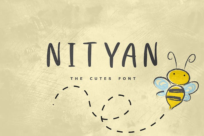 Thumbnail for Nityan - The Cutes Font