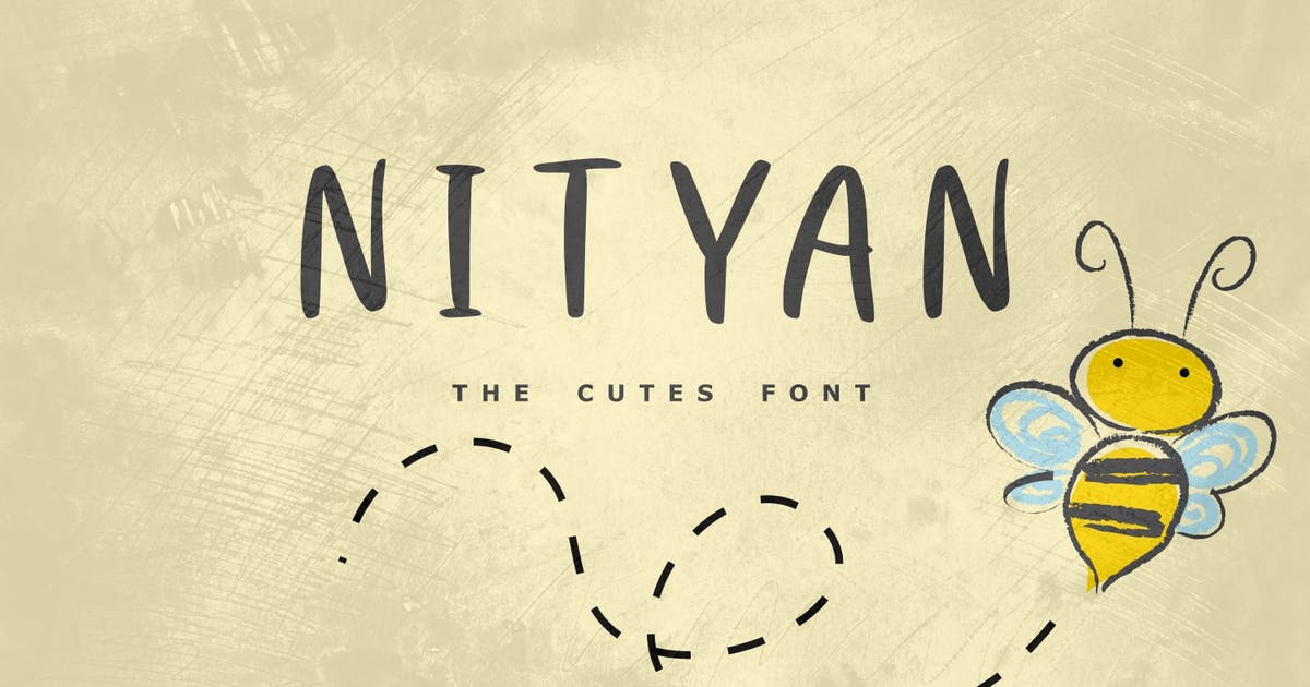 Download Nityan - The Cutes Font by Graphicfresh