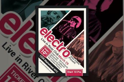 Electro Techno Music Flyer