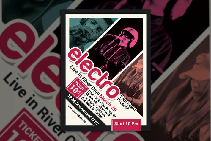 Thumbnail for Electro Techno Music Flyer