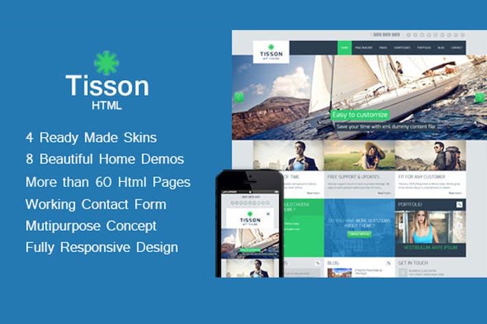 Thumbnail for Tisson - Multipurpose HTML Theme