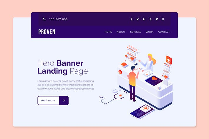 Thumbnail for Proven - Hero Banner Template