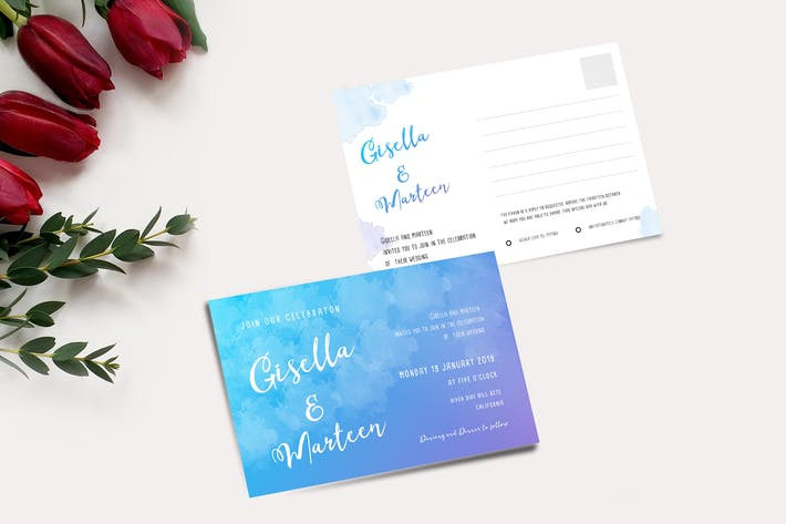Thumbnail for Cartes d'invitation de mariage et RSVP
