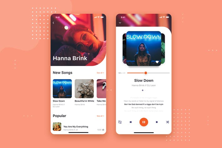 Thumbnail for Music app mobile UI Concept