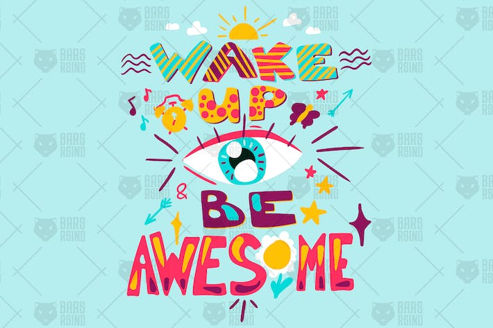 Thumbnail for Inspiration Quote - Wake Up And Be Awesome