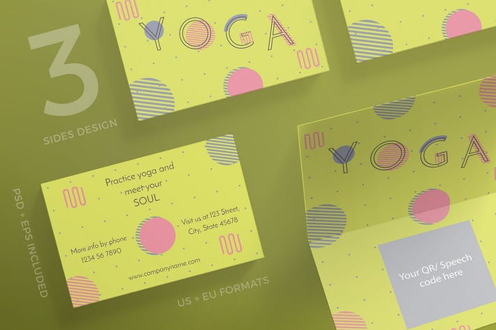 Thumbnail for Yoga Workout Business Card Template