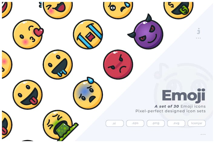 Thumbnail for 30 Emoji Icons