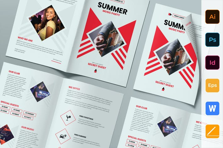 Thumbnail for Summer Music Party Brochure Bifold