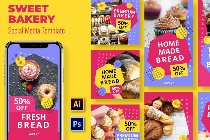 Thumbnail for Bakery Social Media Template