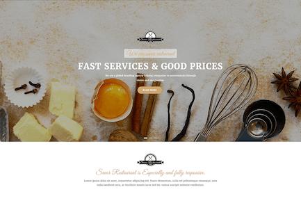 Ресторан, кафе и еда Drupal 8 Тема