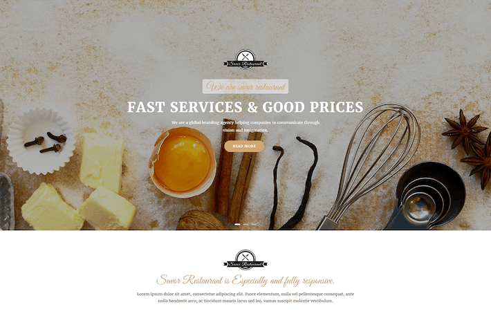 Cover Image For Savor - Restaurant, Cafe & Food Drupal 8 Theme