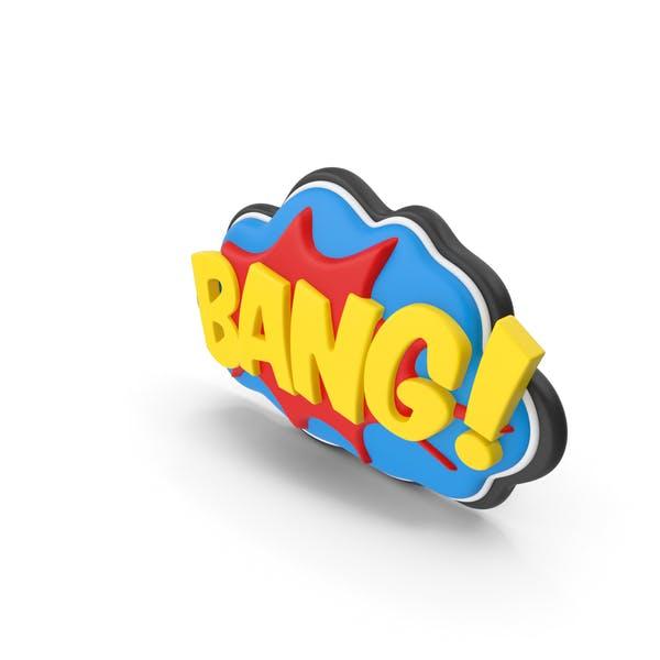 Superhero Comic Text Bubble BANG!