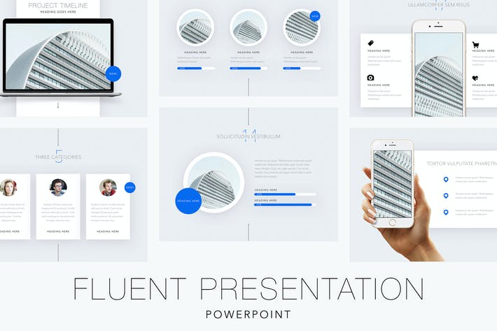 fluent powerpoint template by jumsoft on envato elements