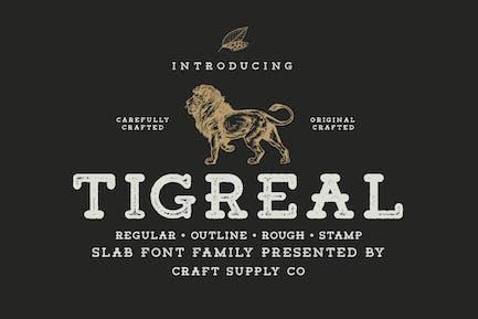 Familia tipográfica Tigreal