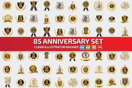 85 Jahrestag Label-Set