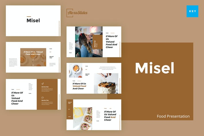 Thumbnail for Misel - Food Keynote Presentation Template