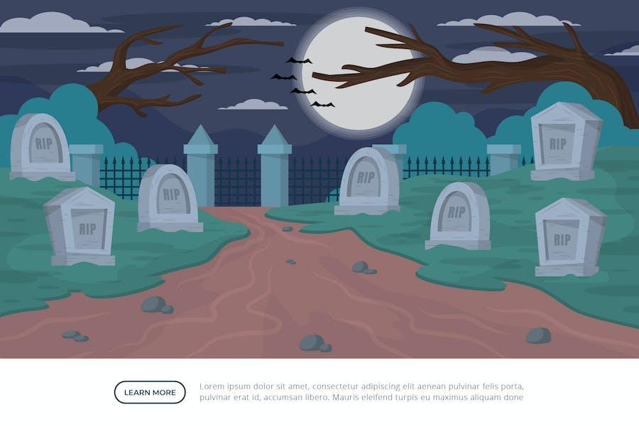 Graveyard - Background Illustration