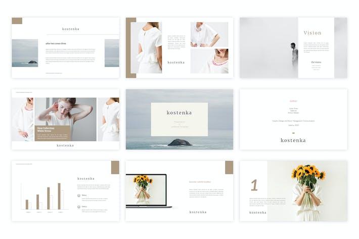 Thumbnail for Kostenka - Google Slides Template