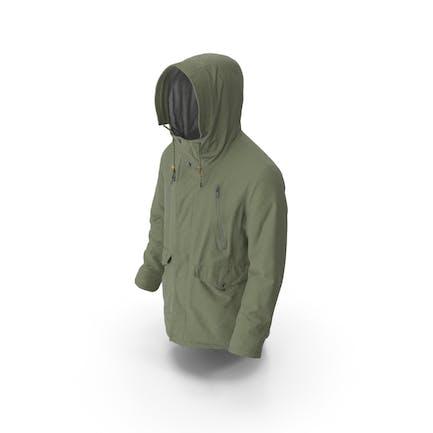 Мужское пуховое пальто Зеленый
