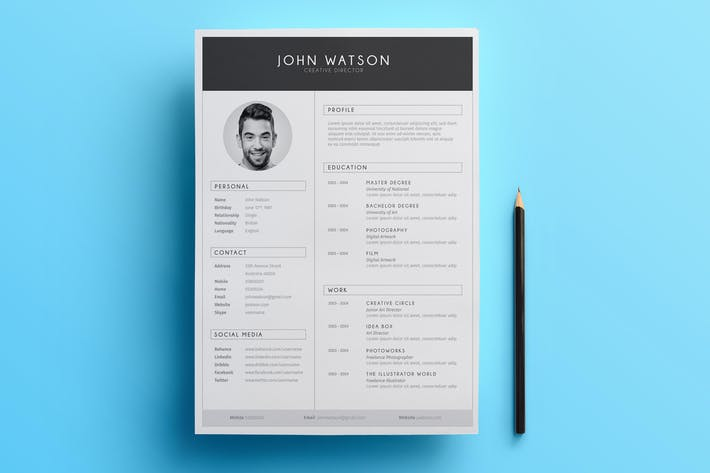 Thumbnail for Minimalist Resume 01