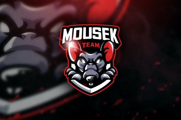Thumbnail for Mousek Team- Mascot & Sports Logo