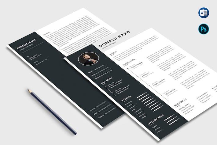 Thumbnail for CV et lettre Mme Office