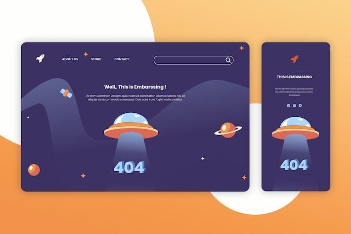 Thumbnail for Página de destino de ilustración y Aplicación móvil de incorporación