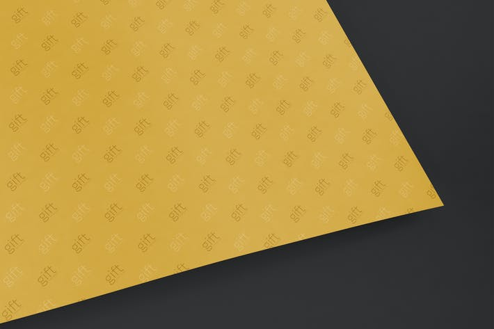 Gift Wrap Paper Mockup
