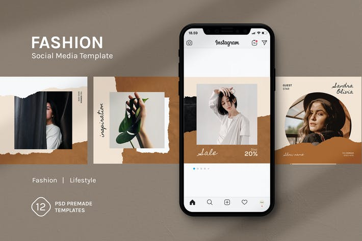 Thumbnail for Fashion Social Media Template