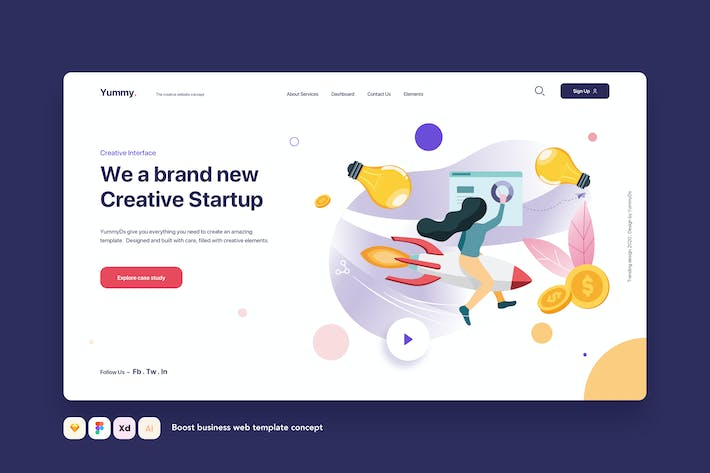 Thumbnail for Boost business web template concept