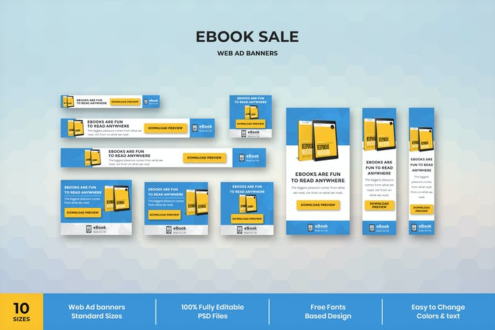 Thumbnail for Ebook - Web Ad Banner Template