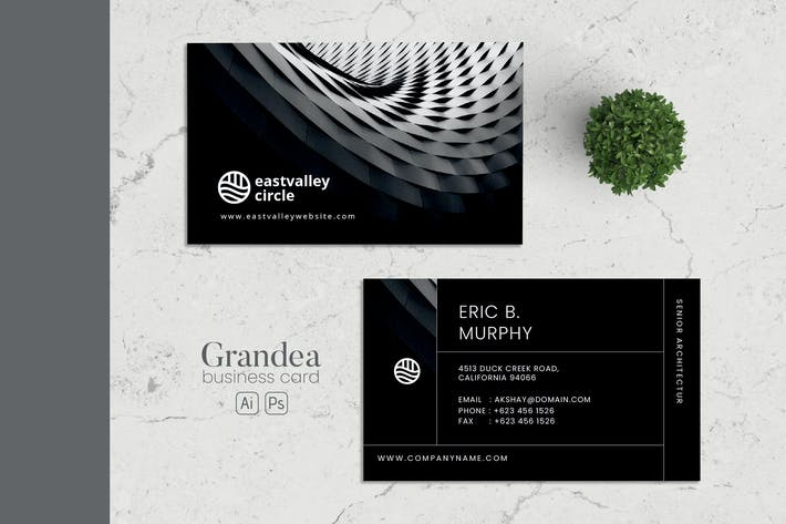 Thumbnail for Minimalist Business Card AI and PSD Vol.03