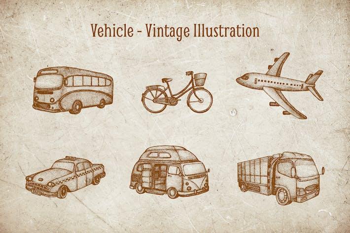 Thumbnail for Vintage Illustration - Vehicle V.1