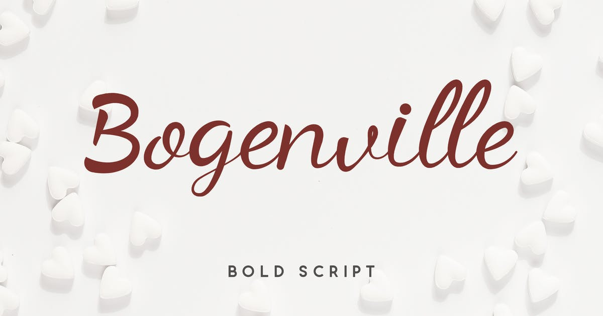Download Bogenville Script Font by naulicrea