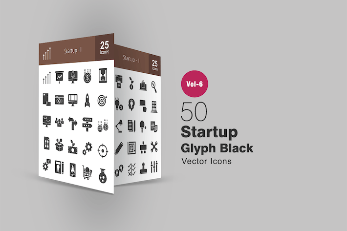 Thumbnail for 50 Startup Glyph Icons