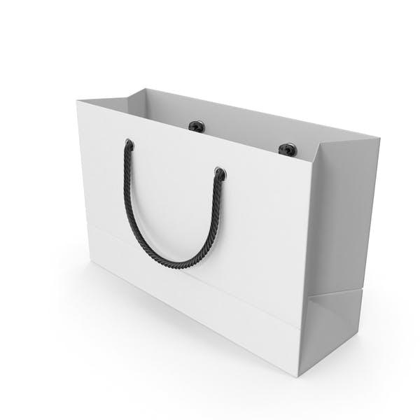 Белая сумка для покупок с черными ручками 1
