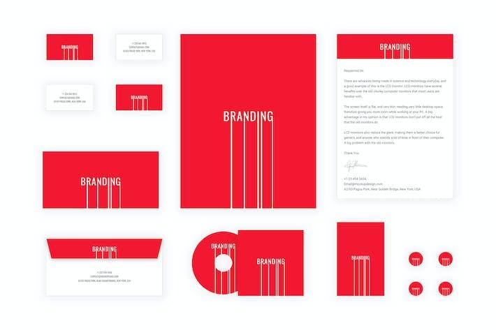 Thumbnail for Branding identity - Branding Lines for Figma