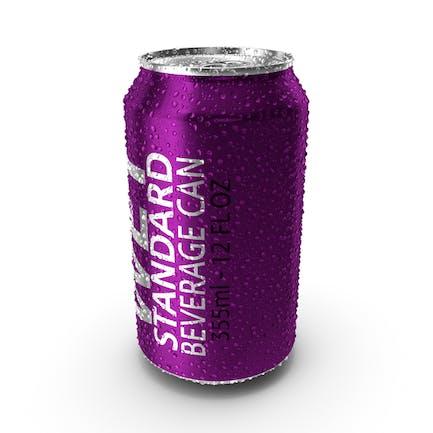Wet Standard Beverage Can