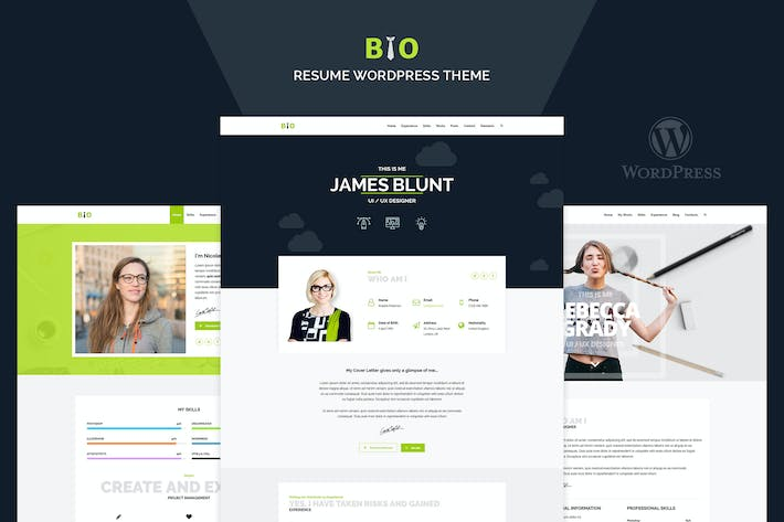 Thumbnail for Resume, CV, Freelancer WordPress Theme