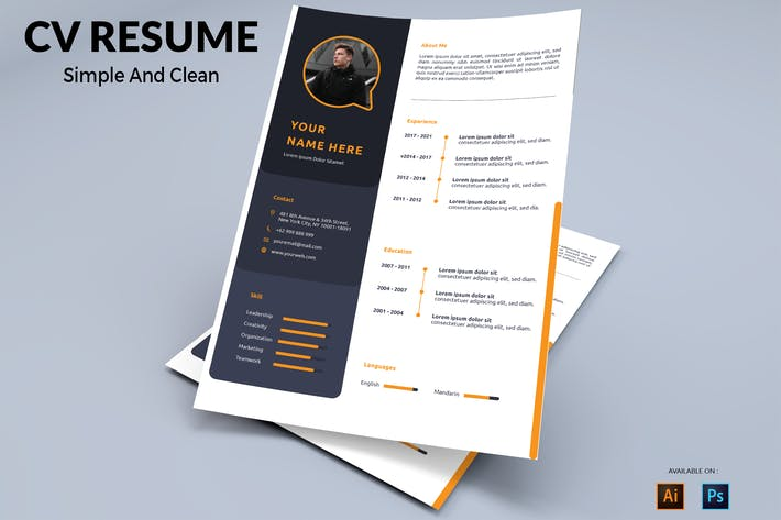 Thumbnail for CV Resume Simple And Clean