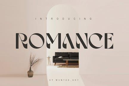 Romance | Pantalla con serifa