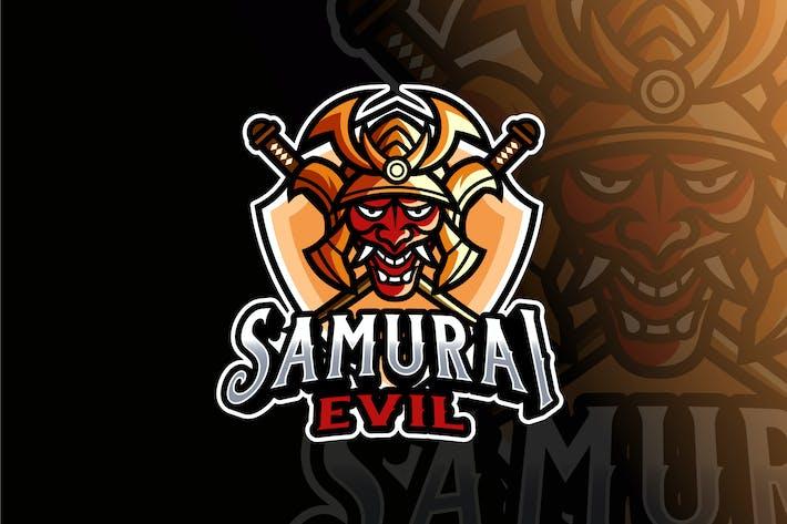Thumbnail for Samurai Evil Logo Template