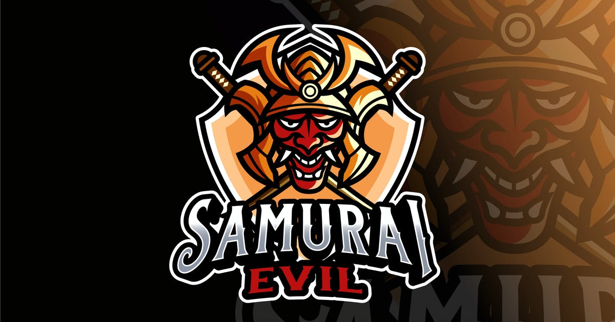Download Samurai Evil Logo Template by IanMikraz