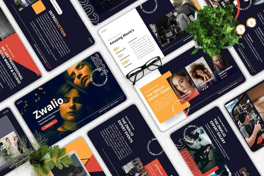 Zwalio - Movie Maker Powerpoint Template