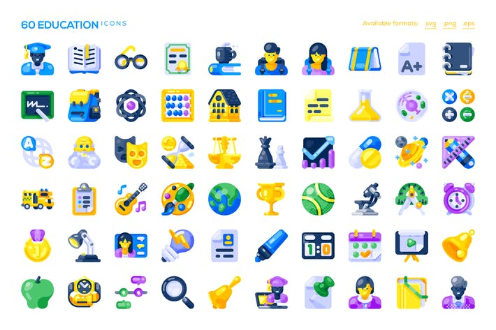 Thumbnail for 60 Education Icons
