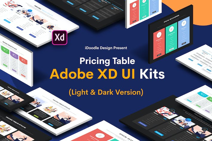 Thumbnail for Pricing Table Adobe XD UI Kits