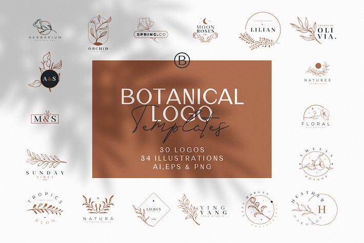 Thumbnail for Handgezeichnete botanische Logos und Illustrationen