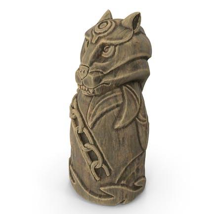 Statuette Fenrir Nordischer Wolf