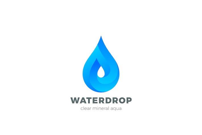 Thumbnail for Water Droplet Logo Aqua Liquid Drop Infinite shape